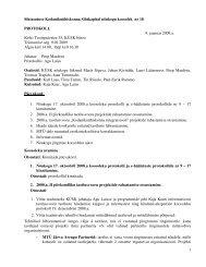 Nõukogu koosoleku protokoll nr 18, 9. jaanuar 2009 - KÜSK