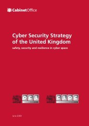 Cyber Security Strategy of the United Kingdom - Cabinet Office
