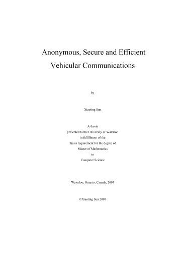 Phd telecommunications thesis