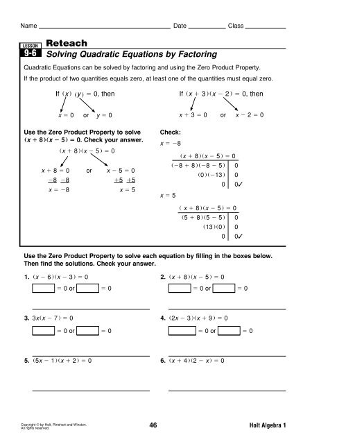 Reteach Completing The Square Worksheet - Geotwitter Kids Activities