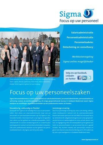 Focus op uw personeelszaken - Sigma Personeelsdiensten
