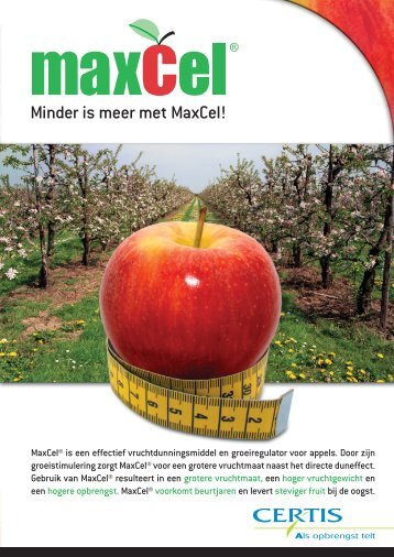 Minder is meer met MaxCel! - Certis Europe