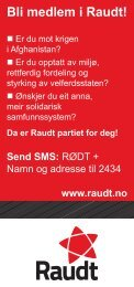 Bli medlem i Raudt!