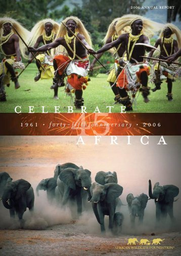 1 9 6 1 • forty - African Wildlife Foundation