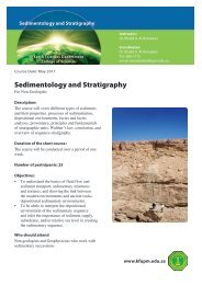 Sedimentology and Stratigraphy - KFUPM