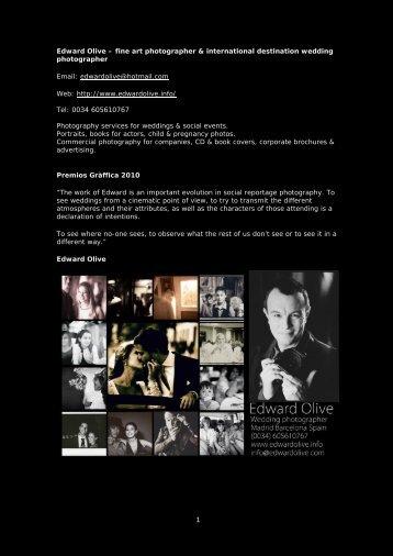 soy fotografo a madrid - Edward Olive actor