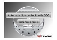 Automatic Source Audit with GCC - XCon