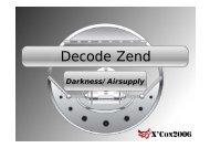 Decode Zend - XCon