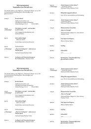 Programm Sept. 2011 - Juli 2012