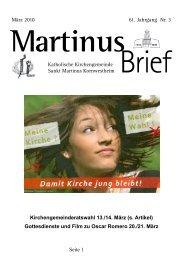 Martinus - Katholische Kirchengemeinde St. Martin in Kornwestheim