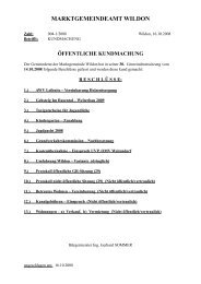 30. Gemeinderatssitzung - Wildon