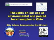 Use of Environmental & Pooled Fecal Samples in Ohio