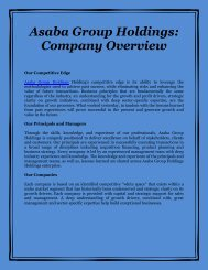 Asaba Group Holdings: Company Overview