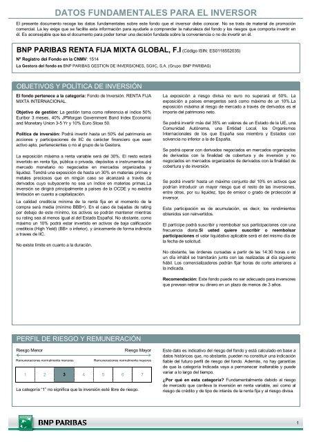 DFI - BNP Paribas Wealth Management España