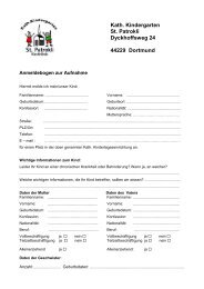 Kath. Kindergarten St. Patrokli Dyckhoffsweg 24 44229 Dortmund