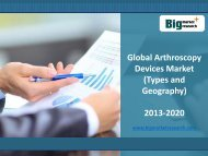 2013-2020 Global Arthroscopy Devices Market Size, Share, Trends