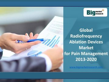 Global Radiofrequency Ablation Devices Market for Pain Management 2013-2020