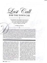 FORTHE TOWN CAR - LINCOLN & CONTINENTAL Club Europa