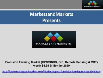 Precision Farming Market by Technology & Components