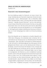 EINIGE HISTORISCHE ANMERKUNGEN Österreich ... - Edition Keiper