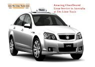 Amazing Chauffeured Limo Service in Australia at Yes Limo Taxis