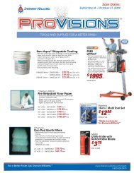 September 8 - Sherwin-Williams Product Finishes
