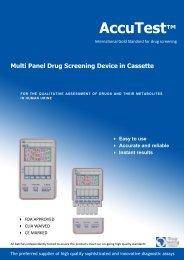 AccuTest Multi Panel Urine Dipstick Test - Drug Testing Africa