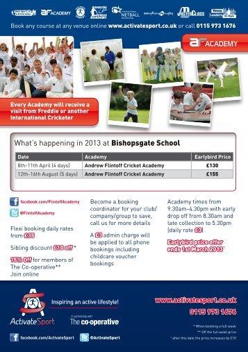 Andrew Flintoff Cricket Academy - Bishopsgate School