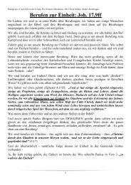 Berufen zur Einheit: Joh. 17,9ff - Evang. Personalgemeinde Trinitatis ...