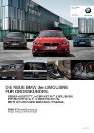 DIE NEUE BMW 3er LIMOUSINE FÜR GROSSKUNDEN.