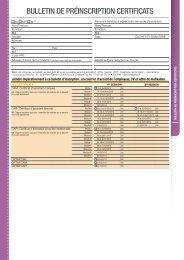 Bulletin de préinscription certiFicAts - Inpi