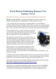 Word Branch Publishing Releases New Fantasy Novel