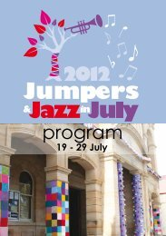 2012 program - Jumpers and Jazz