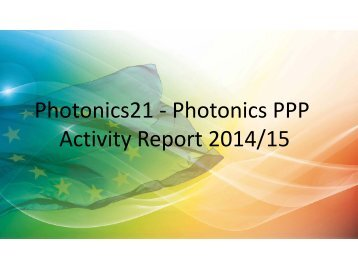 Photonics21 - Photonics PPP Activity Report 2014/15