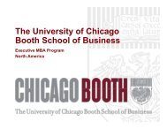 The University of Chicago - Chicago Booth Portal - The University of ...