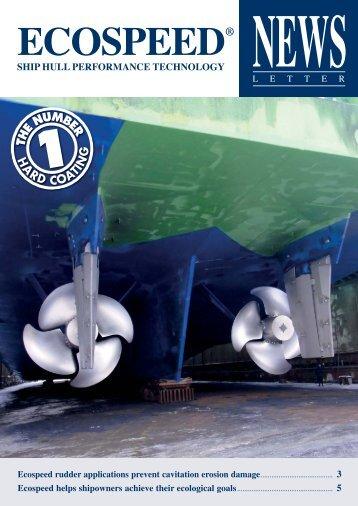 Ecospeed newsletter April 2013 - Hydrex Underwater Technology