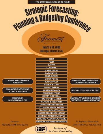 DOWNLOAD CONFERENCE FLYER & REGISTRATION FORM ... - IBF