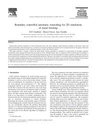 Boundary controlled automatic remeshing for 2D ... - TRDDC