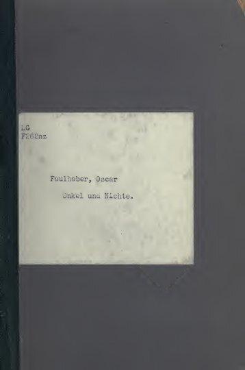 Onkel und Nichte, a German story for sight translation - Scholars Portal