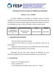 Edital 12-13 - processo externo de contabeis - FESP