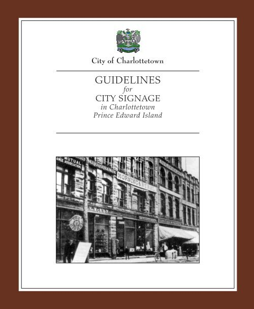 Sign Guidelines – By Type - City of Charlottetown