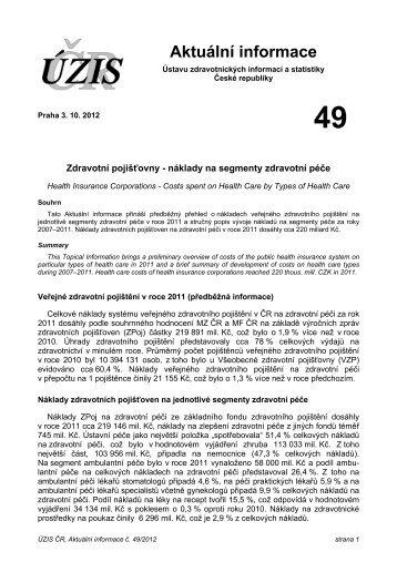 Aktuální informace č. 49/2012 - ÚZIS ČR