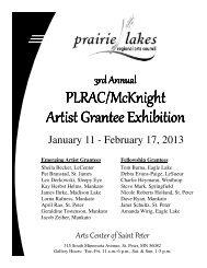3rd Artist Grantee Exhibit 2013 - Prairie Lakes Regional Arts Council
