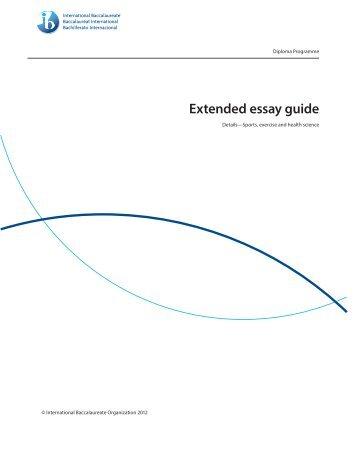 Ib bio extended essay guide