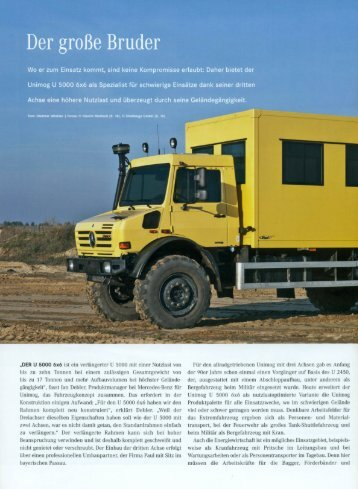 Download PR-Artikel Mercedes-Benz Unimog Magazin 1