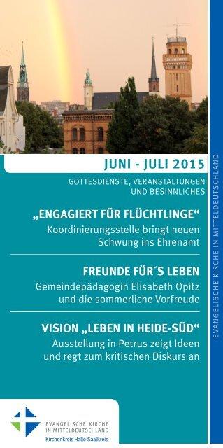Programm des Evang. Kirchenkreises Halle-Saalkreis für Juni - Juli 2015