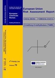 European Union Risk Assessment Report - ESIS - Europa