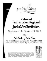 Exhibition Brochure 2013 - Prairie Lakes Regional Arts Council