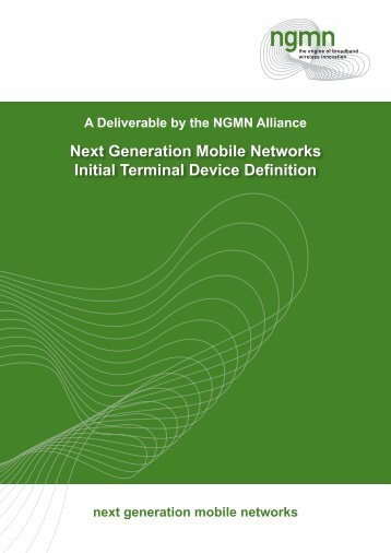 NGMN Initial Terminal Device Definition - Next Generation Mobile ...