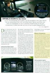 VIRTUELLE AUGEN für den Actros - Paul Nutzfahrzeuge